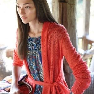 Anthropologie Knitted & Knotted belted cardigan